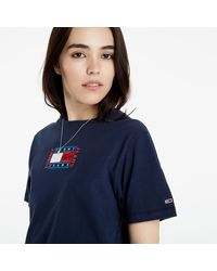 Tommy Hilfiger - Relaxed Timeless Flag Tee Twilight Navy - Lyst