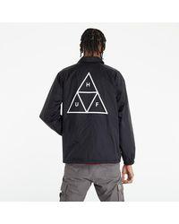 Huf Essentials Tt Coaches Jacket Black - Schwarz