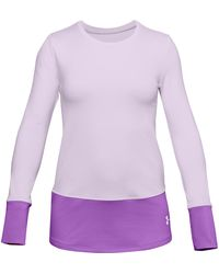 Under Armour Y Coldgear Ls Crew Purple - Violet