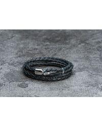 Footshop - Miansai Trice Bracelet With Sleeve Silver/ Black - Lyst