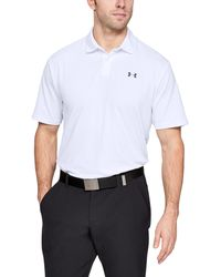 Under Armour Performance Polo 2.0 White/ Pitch Gray - Bianco