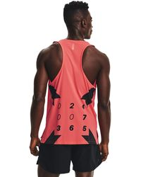 Under Armour Run Anywhere Singlet Red - Rot