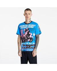 Pleasures Speed Music Heavyweight Shirt Royal - Bleu