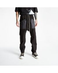 Rick Owens Cargo Drawstring Long Pants Black - Nero