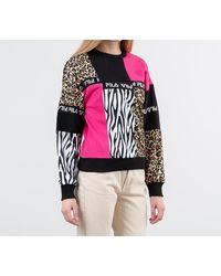 Fila Papina Crewneck Black/ Pink/ Leo - Multicolor