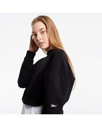 Reebok Ts Dreamblend Cotton Ml Sweatshirt Black - Noir