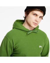 Stussy Stock Logo Hoodie Green - Verde