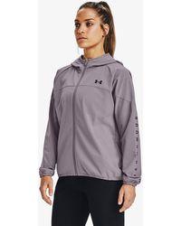 Under Armour Woven Hooded Jacket Slate Purple/ Black/ Black