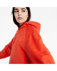 Y-3 W Classic Chest Logo Hoodie Blaze Orange - Noir