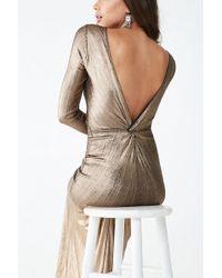 Forever 21 - Metallic Twist-back Gown , Bronze - Lyst