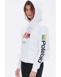 Forever 21 Polaroid Graphic Hoodie - White