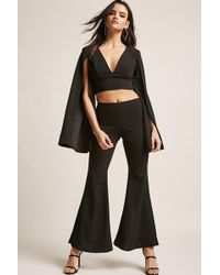 Forever 21 - Slit-back Flared Trousers - Lyst