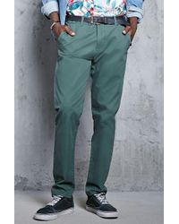 Forever 21 | Slim Cotton Chinos | Lyst