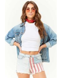 Forever 21 - American Flag Woven Shorts - Lyst