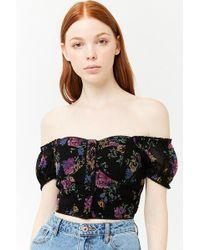 Forever 21 - Floral Off-the-shoulder Top - Lyst