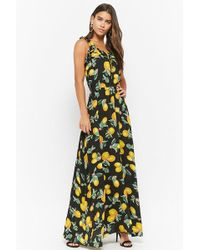 Forever 21 - Eta Lemon Print Maxi Dress - Lyst