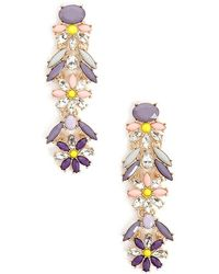 Forever 21 - Bejeweled Flower Drop Earrings - Lyst