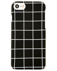 Forever 21 Grid Case For Iphone 6/7/8 , Black/white
