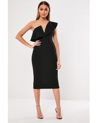 Missguided - One-shoulder Dress At - Lyst