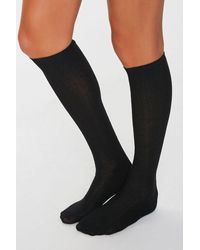 Forever 21 Knee-high Socks - Black