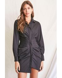 Forever 21 - Ruched Shirt Mini Dress - Lyst