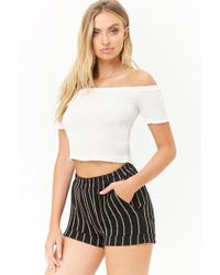 Forever 21 - Striped Knit Shorts - Lyst