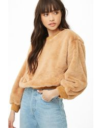 Forever 21 - Woven Heart Faux Fur Jumper - Lyst