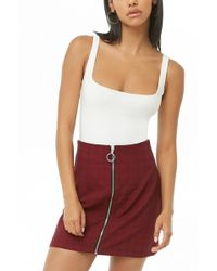 Forever 21 - Check Zippered Skirt - Lyst