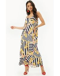 Forever 21 - Striped Chain Print Maxi Dress - Lyst