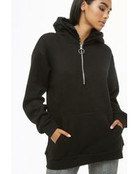Forever 21 - Faux Fur Pull-ring Hoodie - Lyst