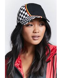 Forever 21 - Chequered Baseball Cap - Lyst