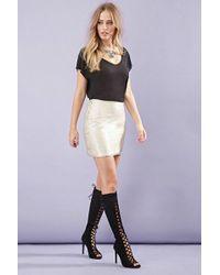 FOREVER21 - Matte Sequined Mini Skirt - Lyst