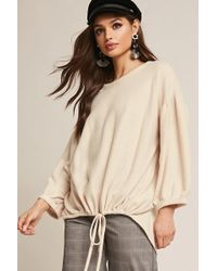 Forever 21 - Fleece Knit Balloon-sleeve Top - Lyst
