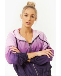 Forever 21 - Active Ombre Windbreaker - Lyst