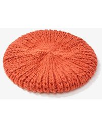 Forever 21 Ribbed Knit Beret - Red