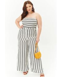 e1504358745 Forever 21 Women s Plus Size Striped Floral Wide-leg Jumpsuit in ...