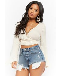 Forever 21 - High-rise Button Fly Denim Shorts - Lyst