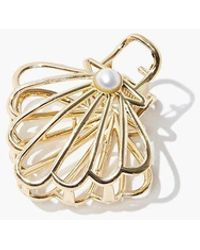 Forever 21 Seashell Claw Clip - Metallic
