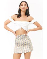 Forever 21 - Women's Zippered Check Skirt - Lyst