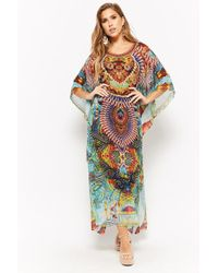 Forever 21 - Colorful Ornate Print Kaftan Dress - Lyst
