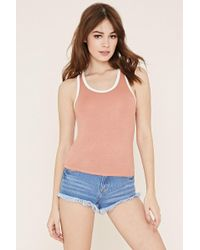 Forever 21 - Contrast-trimmed Tank - Lyst