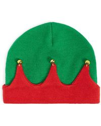 Forever 21 Bell Accent Colorblock Beanie - Green