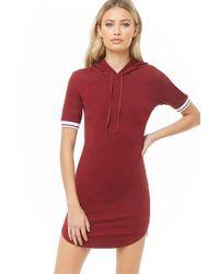 911f604dd07d7 Forever 21 Varsity-striped T-shirt Dress in Purple - Lyst