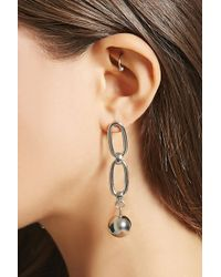 Forever 21 - Chain-link Bauble Earrings - Lyst