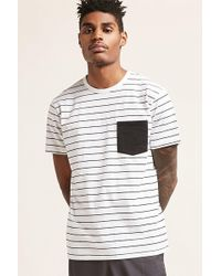 Forever 21 - T-shirt a righe con taschino - Lyst