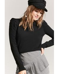 Forever 21 - Puff-sleeve Jumper-knit Top - Lyst
