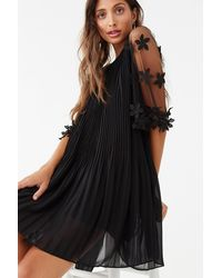 Forever 21 Accordion Pleated Dress , Black