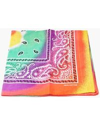 Forever 21 Tie-dye Paisley Bandana In Yellow - Pink