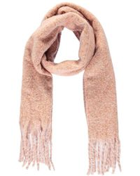 Forever 21 Marled Brush Knit Scarf , Pink