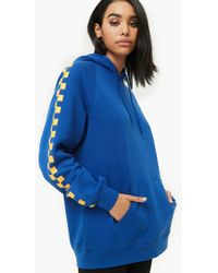 Forever 21 - Checkered Fleece Hoodie - Lyst